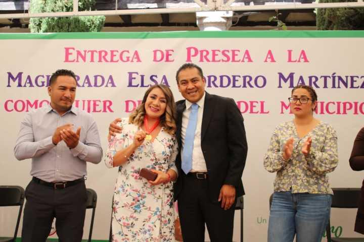 Elsa Cordero, destacada mujer chiautempense