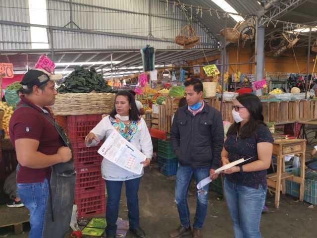 Zacatelco trabaja en medidas de prevención con comercios