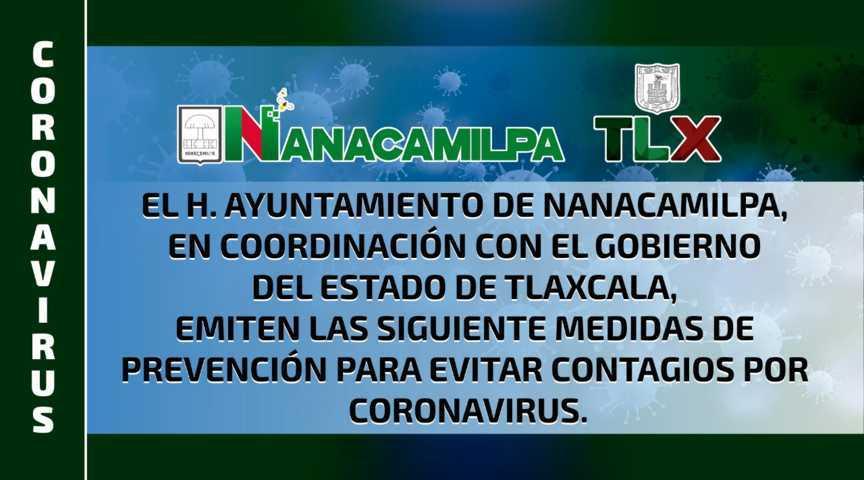 Ayuntamiento de Nanacamilpa se mantiene alerta por Covid-19