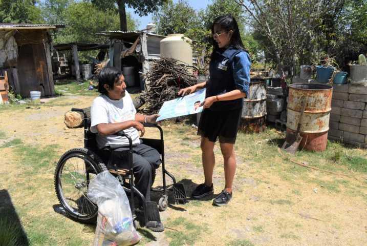DIF de Zacatelco entrega despensas para familias vulnerables