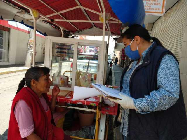 Por Fase 3 de Covid-19, se notifican a comerciantes de Chiautempan