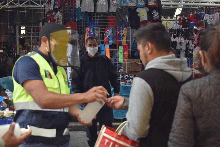 Operativos y filtros sanitarios continúan en Zacatelco