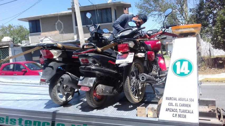Se reanuda operativo de motos sin placas en Apizaco