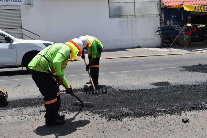 Se Inicia etapa de bacheo en Zacatelco