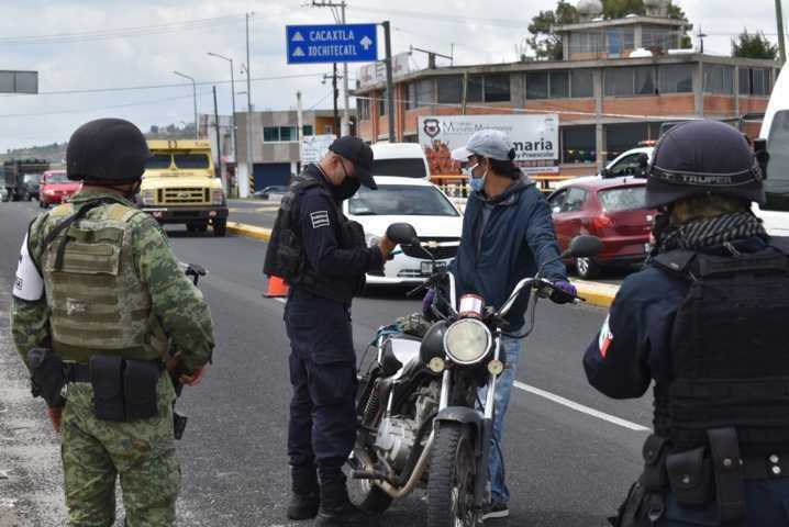Policía Municipal y Guardia Nacional refuerza operativos en Zacatelco