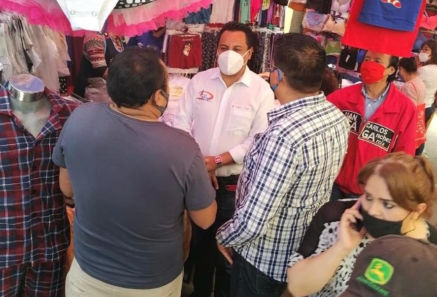 SAGA felicita a tianguistas de Calpulalpan por medidas sanitarias