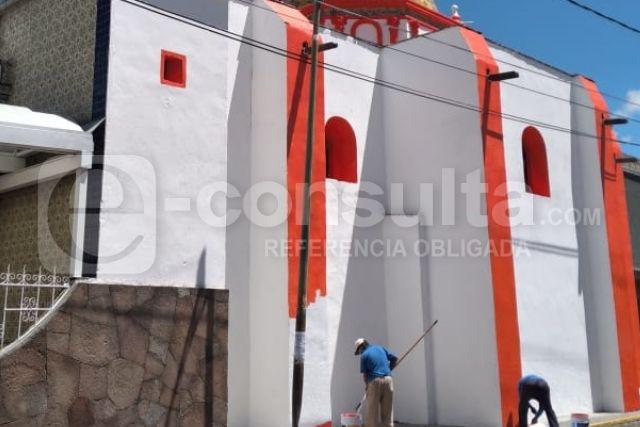 Rehabilitan la capilla de San Miguel Arcángel en San Pablo del Monte