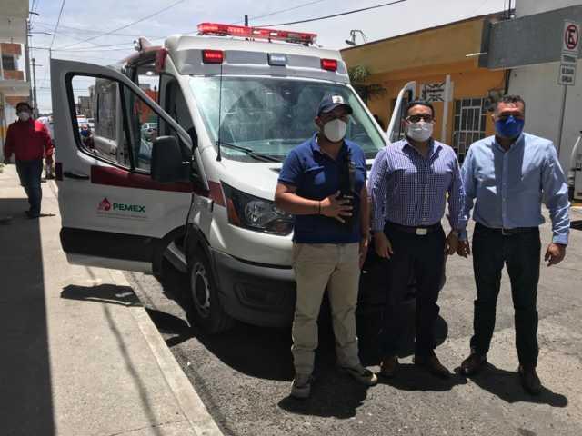 Pemex dona ambulancia a Pc de Apizaco