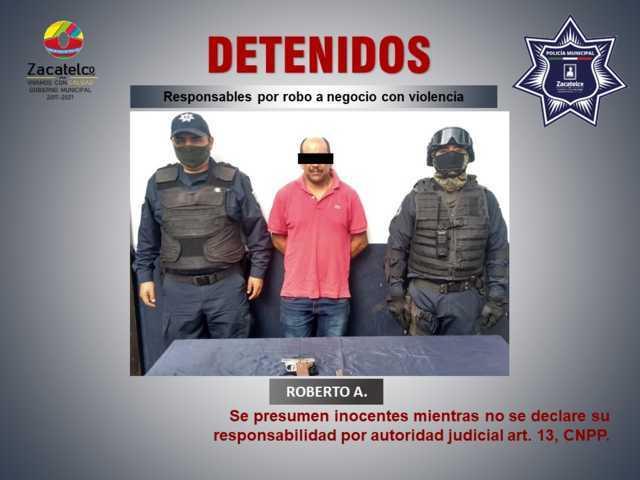 Detienen a masculino por portación ilegal de arma de fuego en Zacatelco