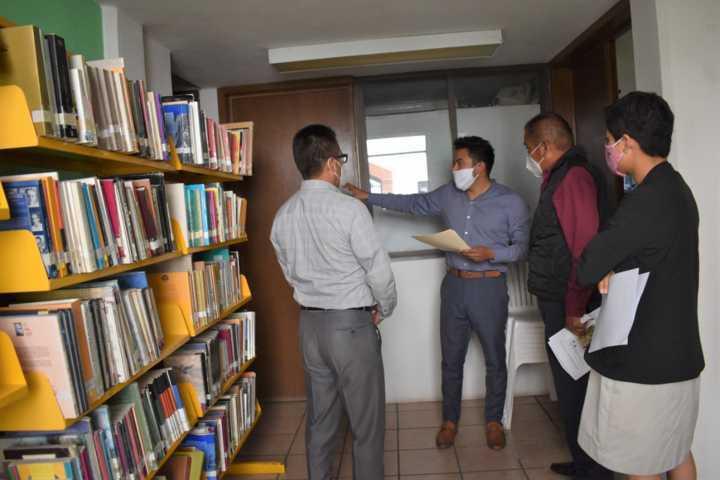 Inicia IMJUVE Zacatelco rehabilitación y modernización de Bibliotecas del Municipio