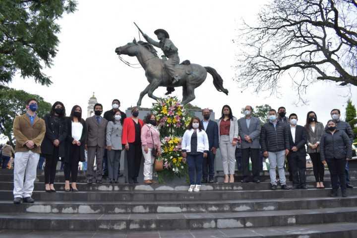 En Zacatelco rinden homenaje al 103 Aniversario Luctuoso del General Domingo Arenas