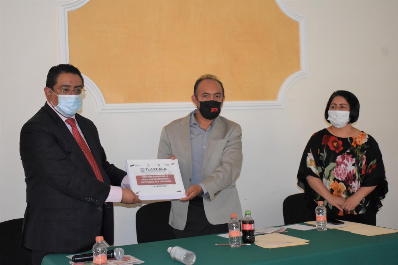 Presentan en Zacatelco la Estrategia Brigadas Municipales ante COVID-19