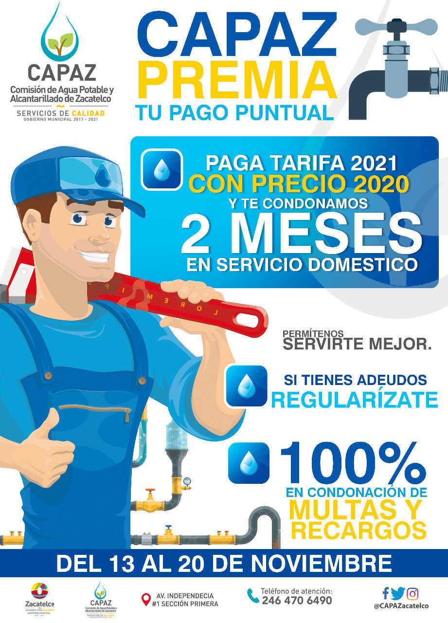 CAPAZ de Zacatelco da a conocer programa de descuentos