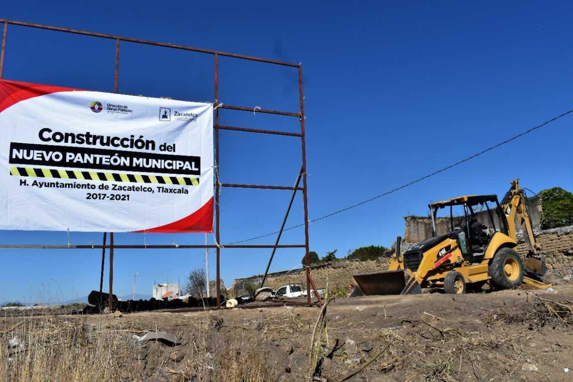 Inicia la construcción del nuevo panteón en Zacatelco