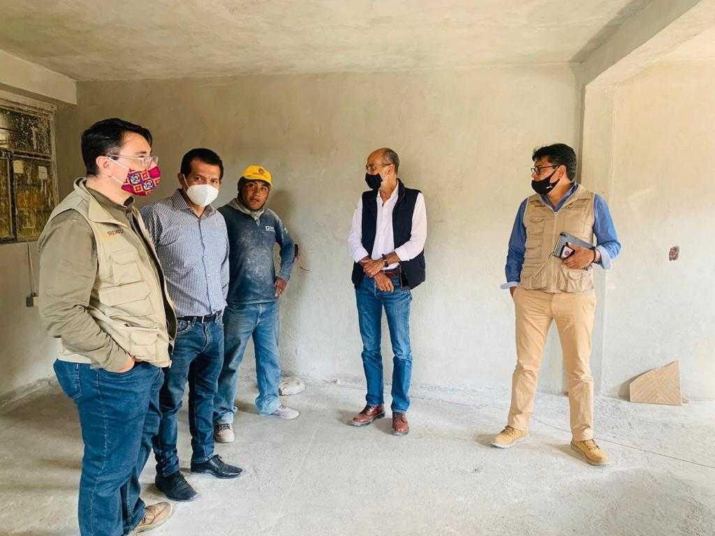 Subsecretario de Sedatu verifica el programa emergente de vivienda en la capital tlaxcalteca