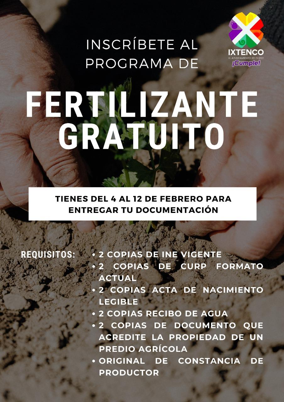 Aún quedan fichas para acceder al programa de fertilizante gratuito en Ixtenco