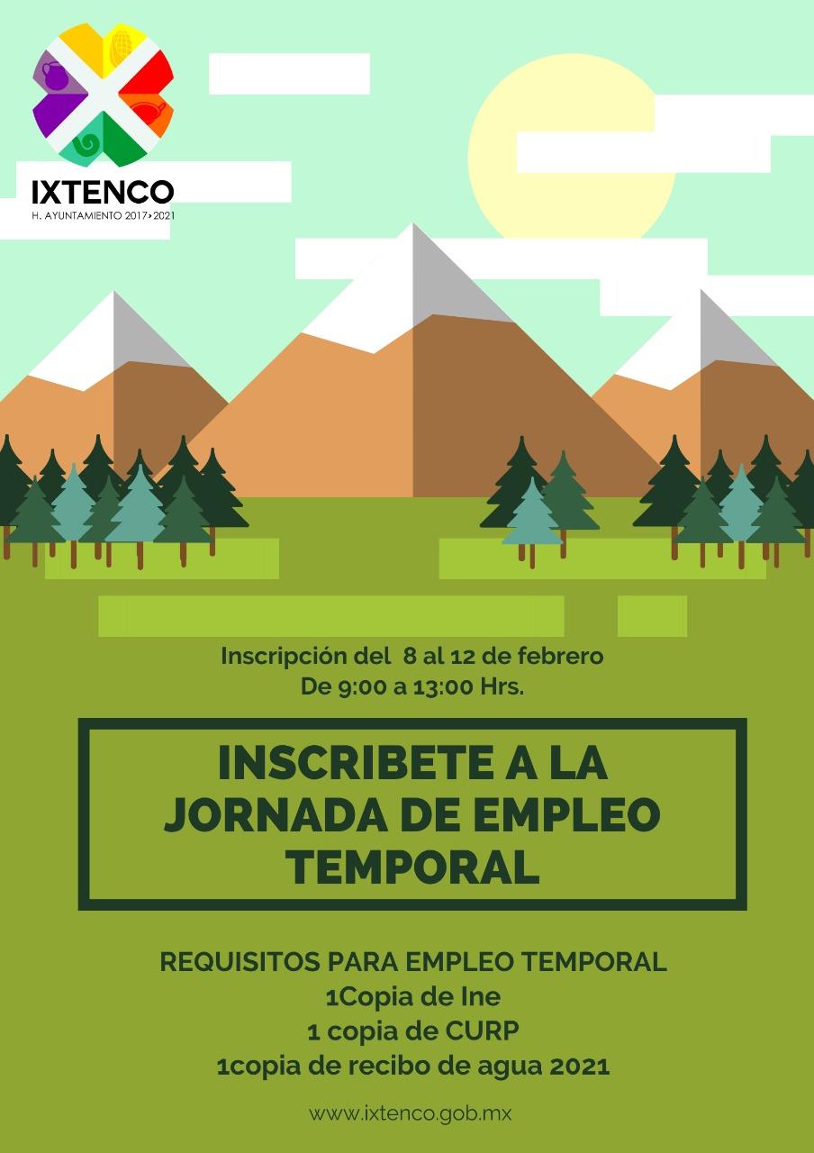 Hoy arranca el reclutamiento para el empleo temporal en Ixtenco