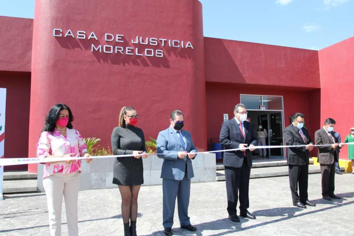 Inaugura gobernador Casa de Justicia de Morelos en Tlaxco