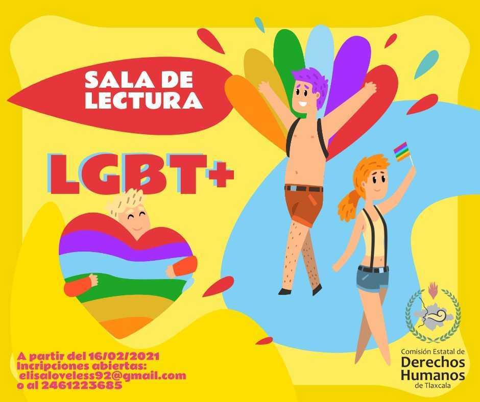 Realiza CEDH y comunidad LGBT+ salas de lectura virtual