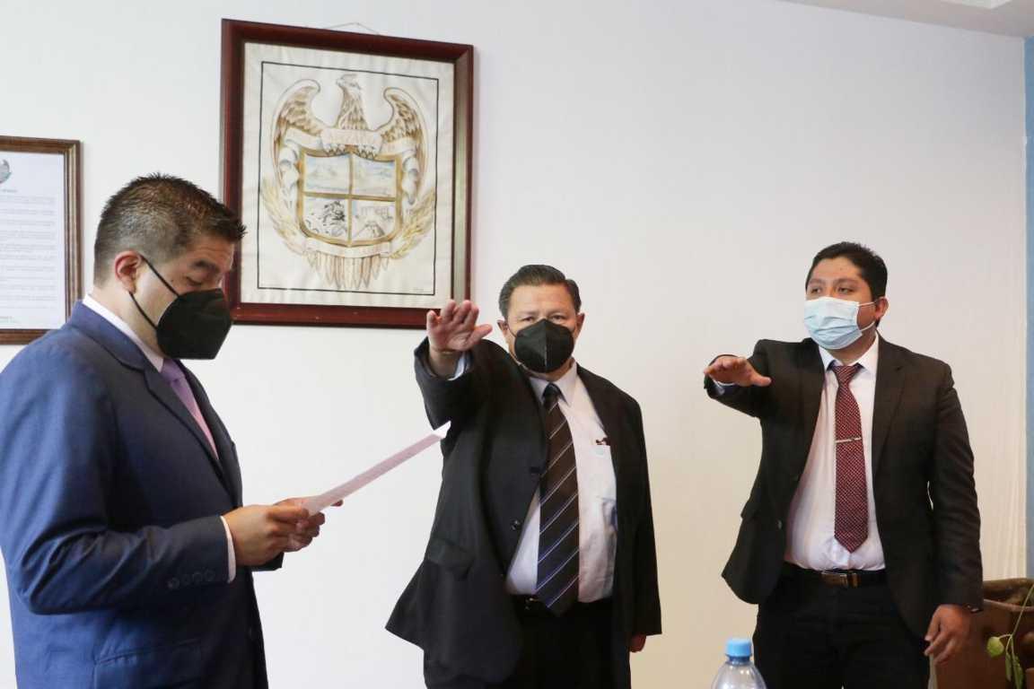 Carlos Hernández Castillo asumió presidencia interina de Apizaco