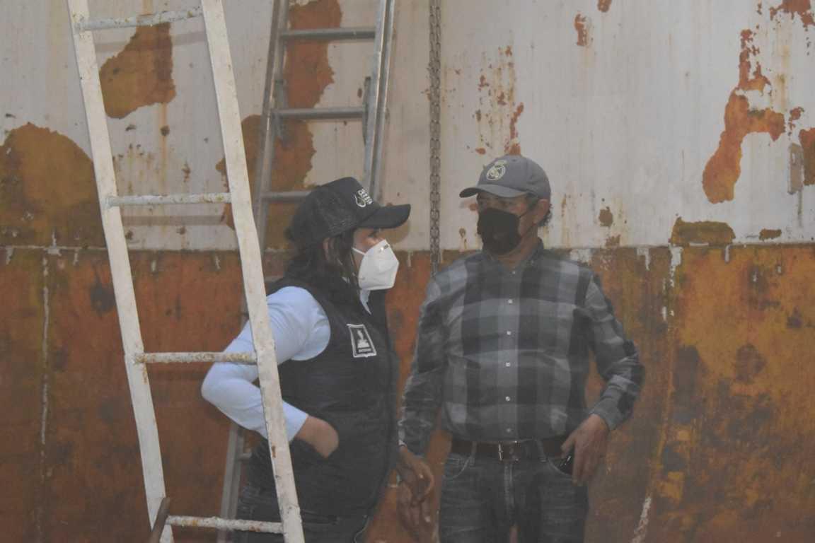 Presidente municipal de Zacatelco supervisa trabajos de mantenimiento de la CAPAZ