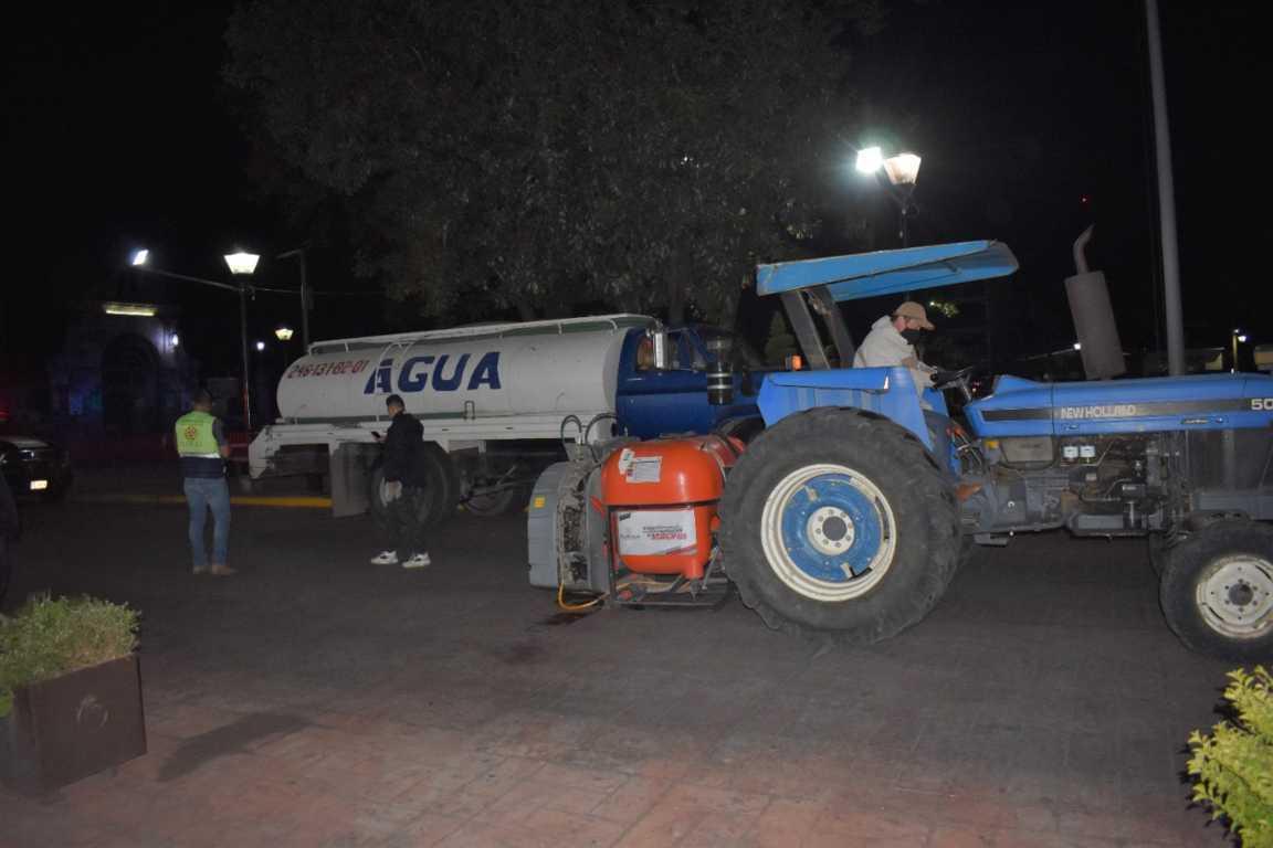 Por tercera Ocasión Sanitizan Calles de Zacatelco