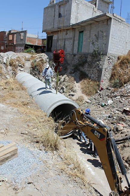 Gobierno Municipal de San Pablo Del Monte inicia construcción de conector pluvia en Calle Montessori