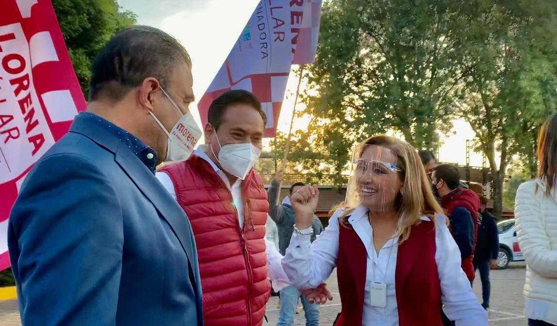 Felicita Jorge Corichi a Lorena Cuellar por iniciar una campaña electoral responsable