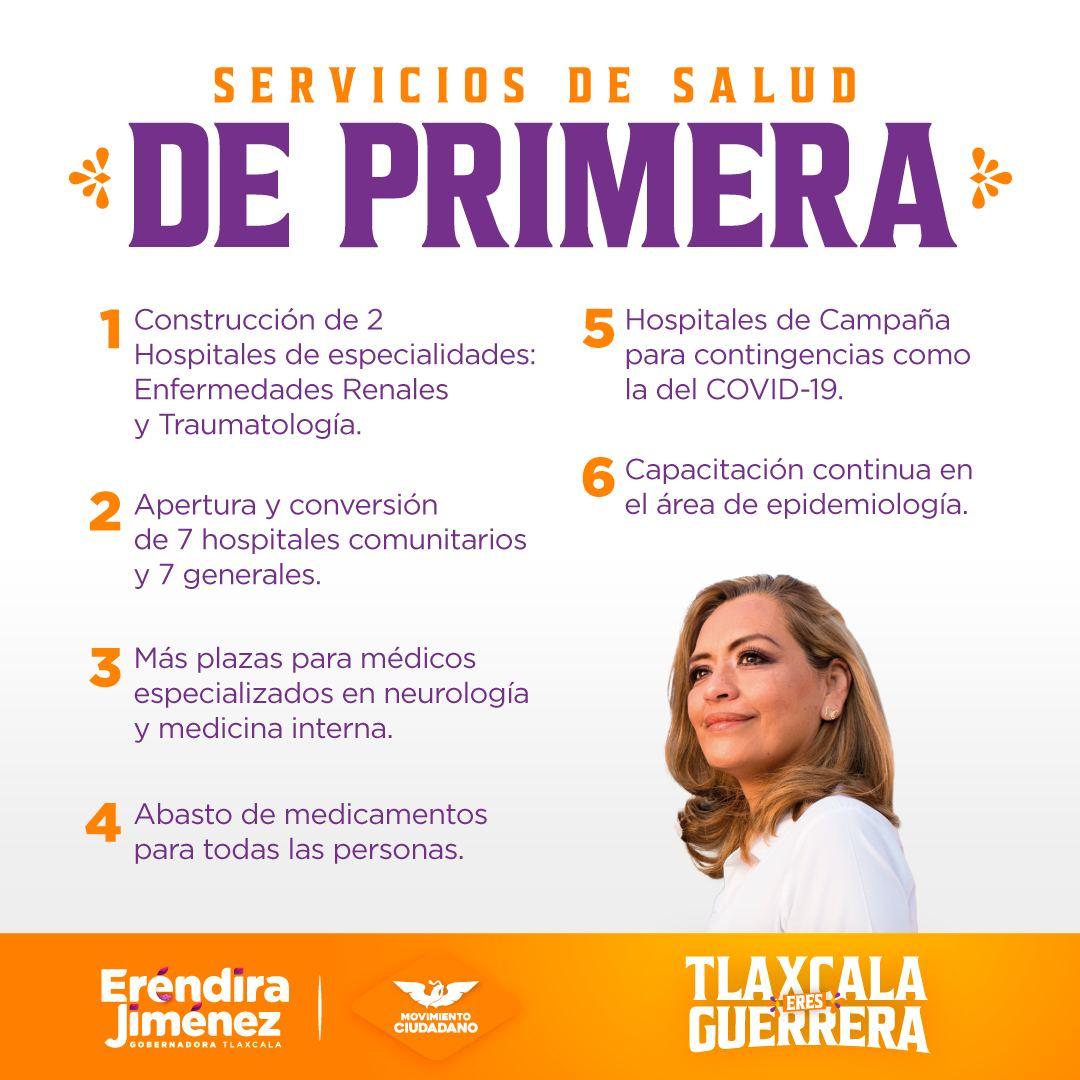 Tlaxcala contará con 16 Hospitales, promete Eréndira Jiménez
