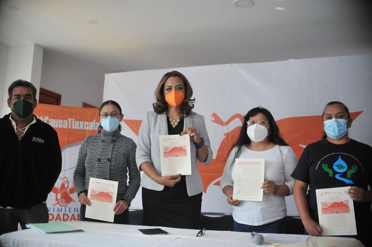 Eréndira Jiménez se compromete con la agenda ciudadana a favor de Tlaxcala