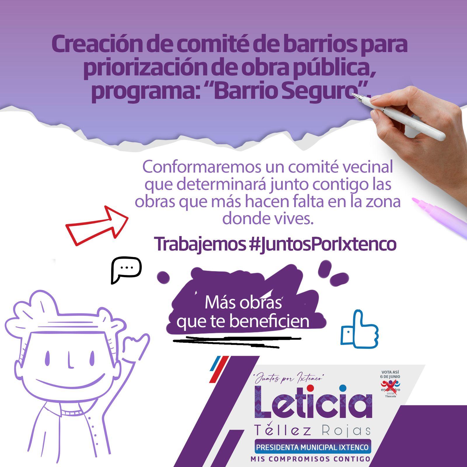 Destaca Leticia Téllez en Ixtenco sus compromisos por la familia