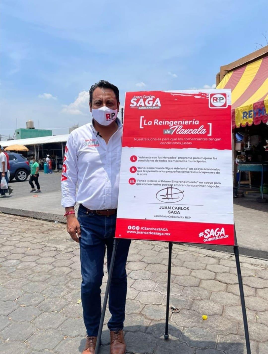SAGA buscará detonar la economía de Tlaxcala a través de los mercados