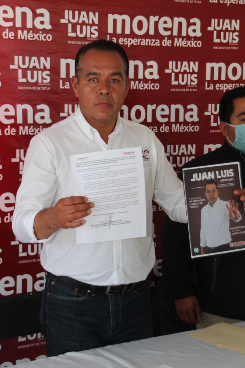 Juan Luis Hdez. compronete una administración eficiente y libre de corrupción para Tetla