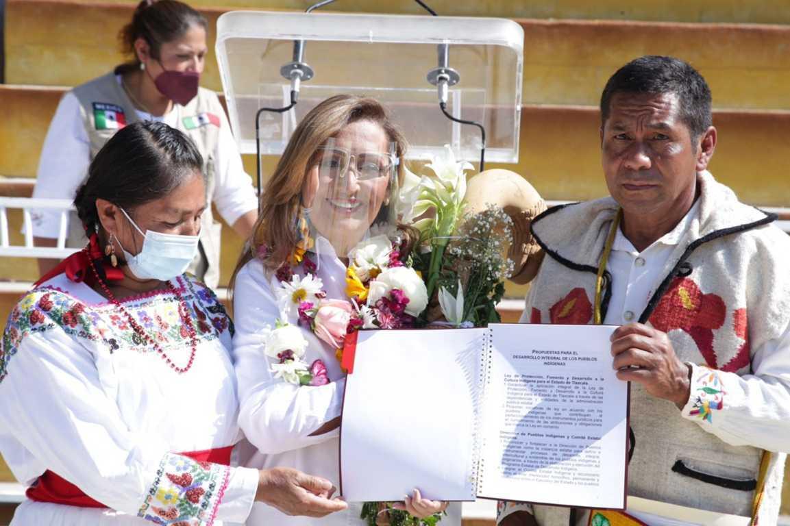 Universidad Indígena en Tlaxcala, compromiso asumido por Lorena Cuéllar