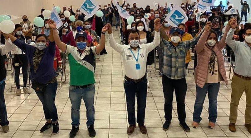 Nueva Alianza de Apetatitlán se suman al proyecto ganador de Ángelo Gutiérrez