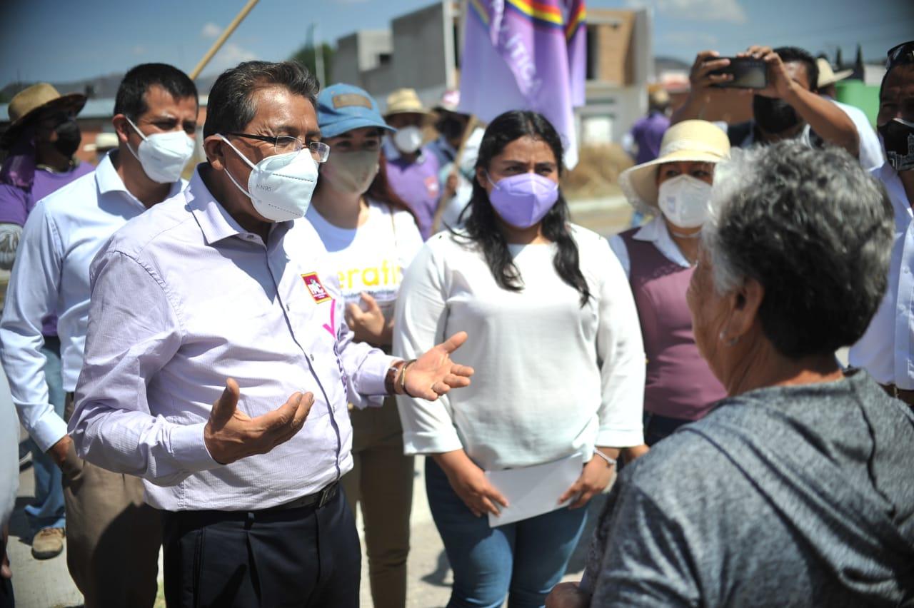 Soy un candidato que da respuestas, dice Serafín Ortiz
