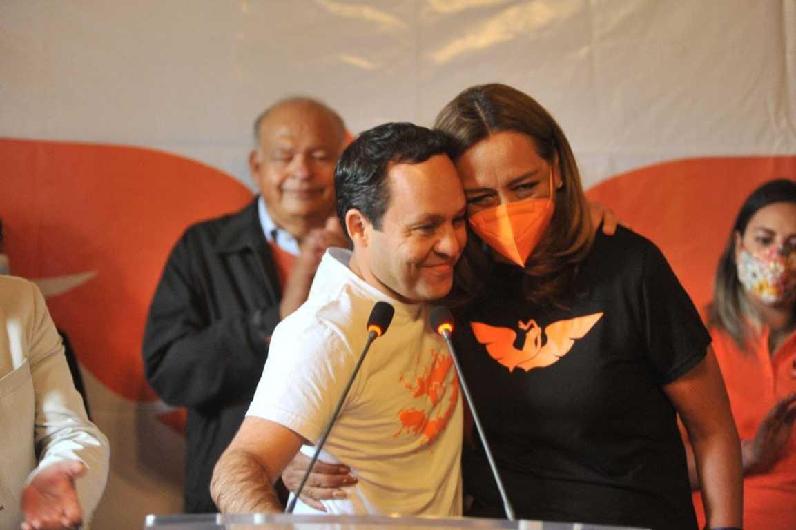 Clemente Castañeda refrenda el apoyo total de MC hacia Eréndira Jiménez
