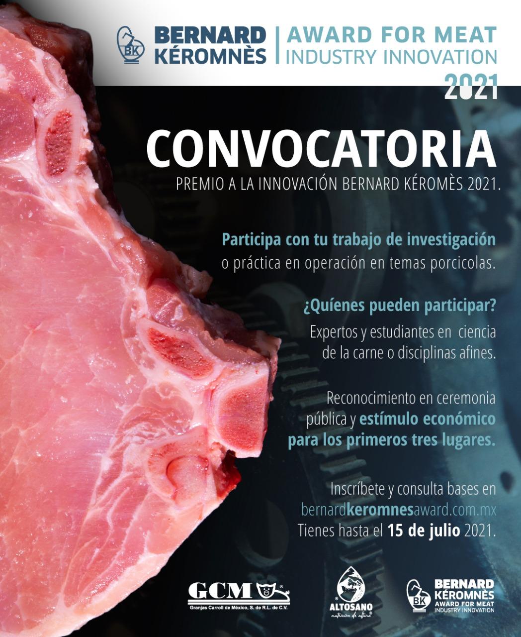 """Invita Granjas Carroll a participar en la 2a Edición del """"Premio a la Innovación Bernard Kéromnès"""""""