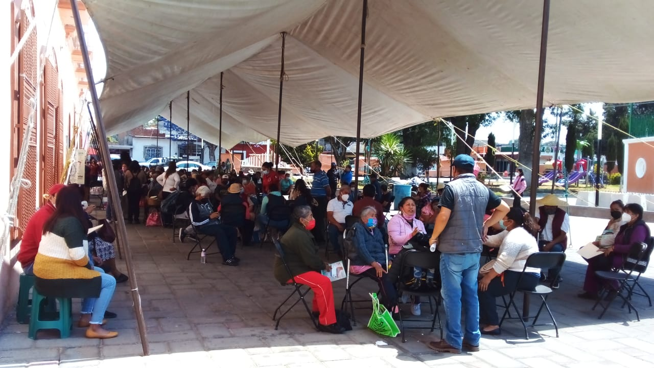 Santa Cruz Tlaxcala recibirá dosis de vacunación para personas de 50 a 59 años este miércoles