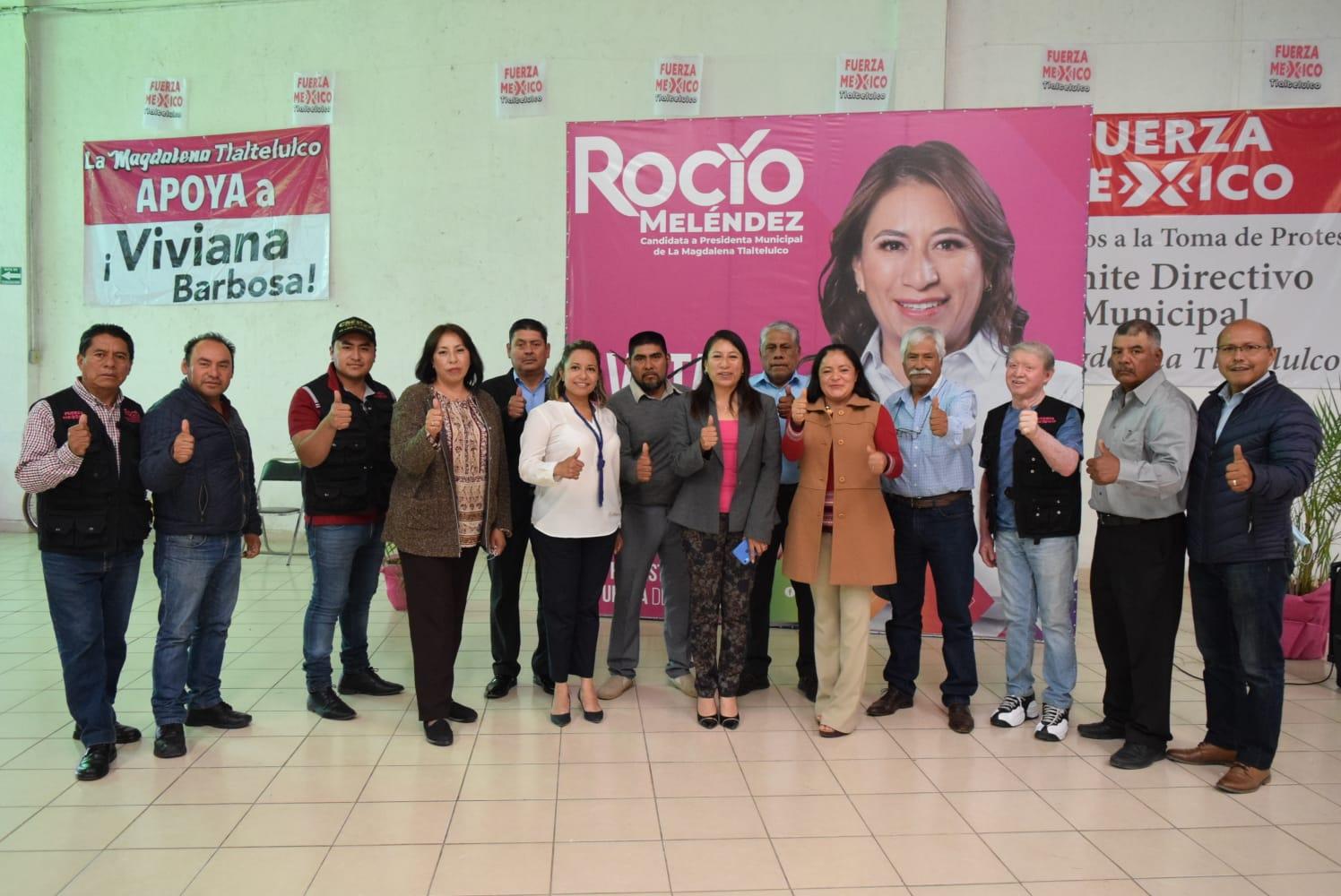 Representa Rocío Meléndez cinco corrietes partidistas en Tlaltelulco