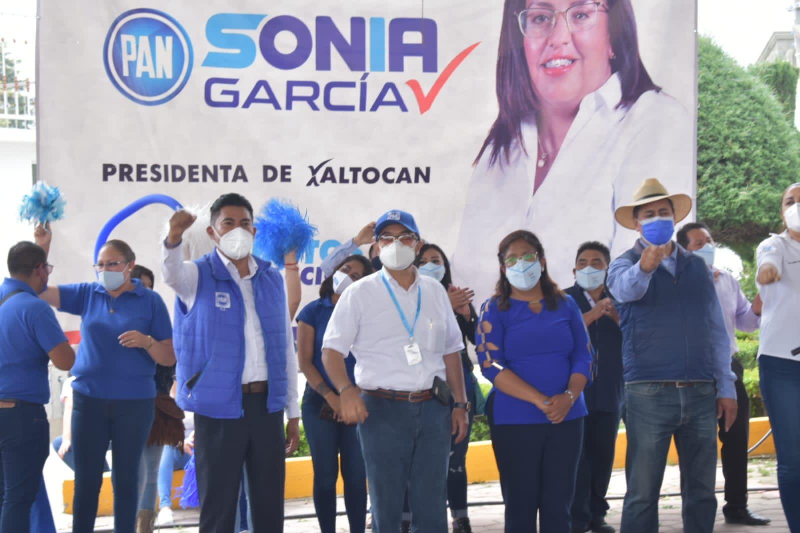 Acompaña Pepe Temoltzin al cierre de campaña de Sonia García en Xaltocan