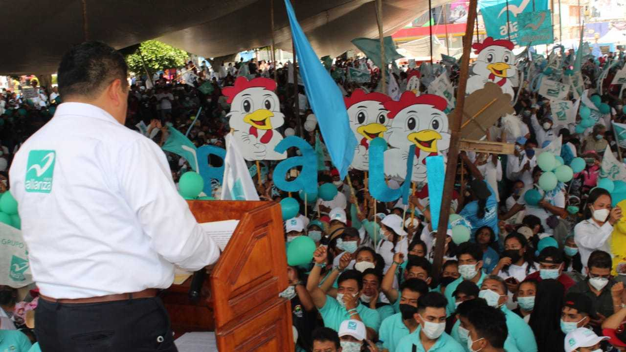 Cierra campaña Raúl Juárez, El Pollo; Nueva Alianza ganará en SPM