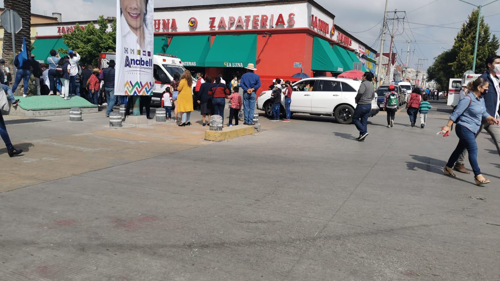 Descuidan la seguridad del municipio de Tlaxcala pero resguardan a Anabell Ávalos en su cierre de campaña