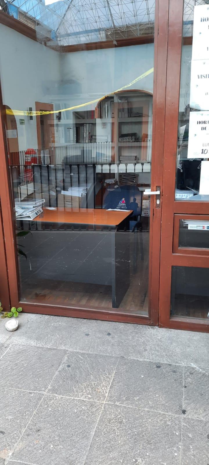 Cierran oficinas del ayuntamiento de Tlaxcala; capitalinos molestos con Anabell Ávalos