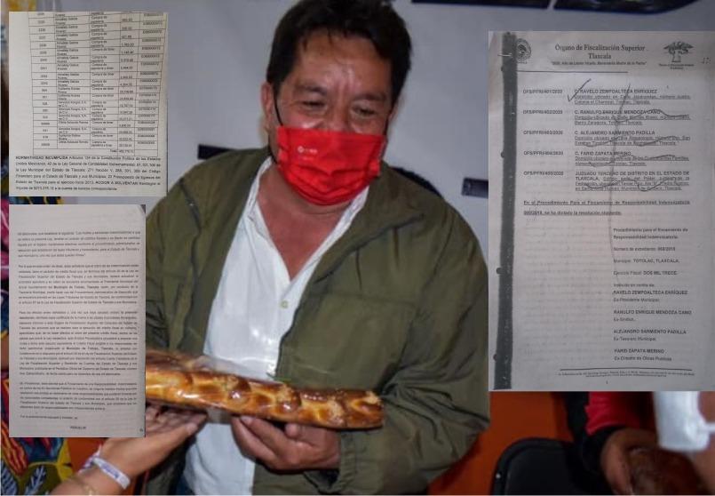 Se ampara expareja de Anabell Ávalos; En Totolac alteró facturas y causó daño patrimonial
