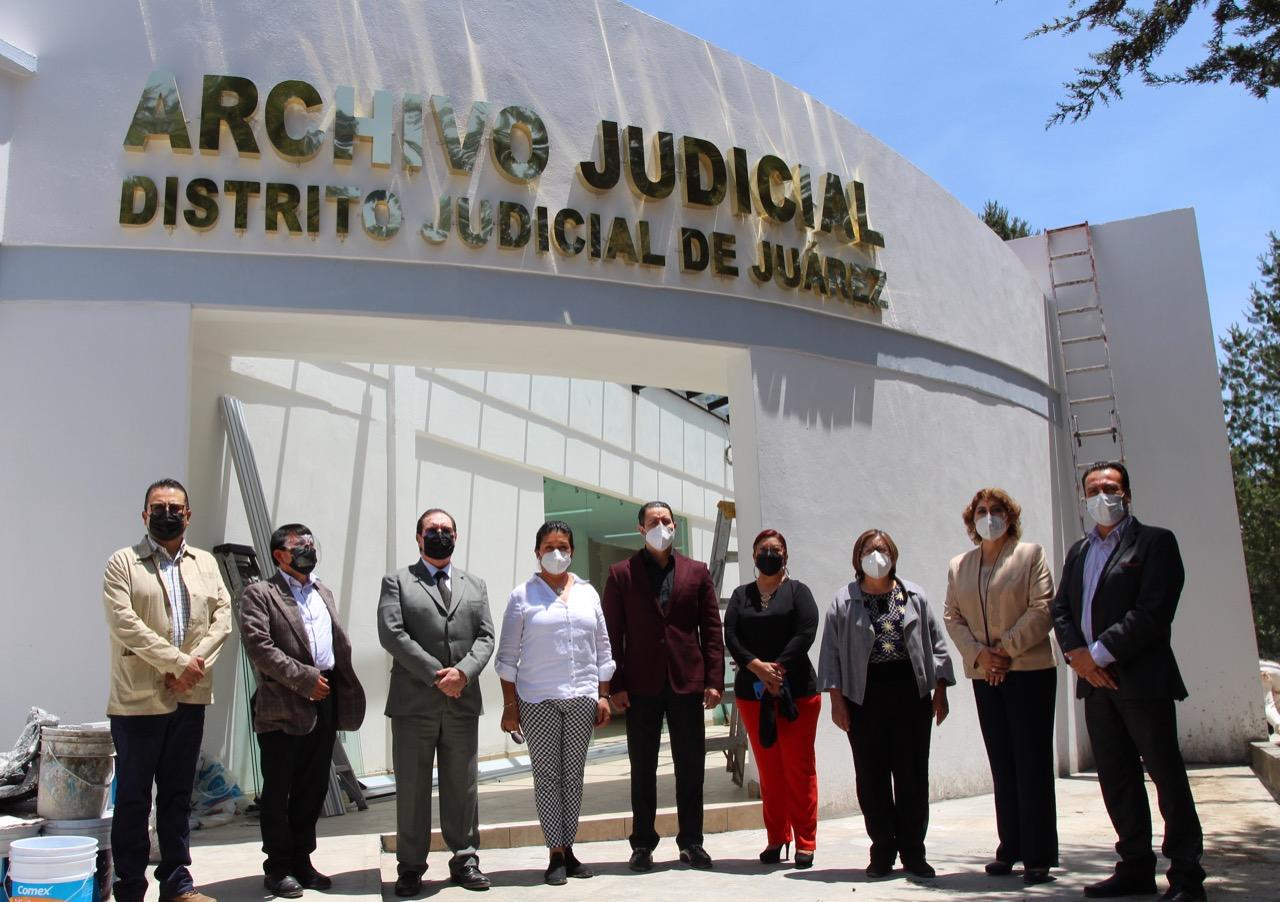 Supervisan magistrados y consejeros construcción de Casas de Justicia y Archivo Judicial