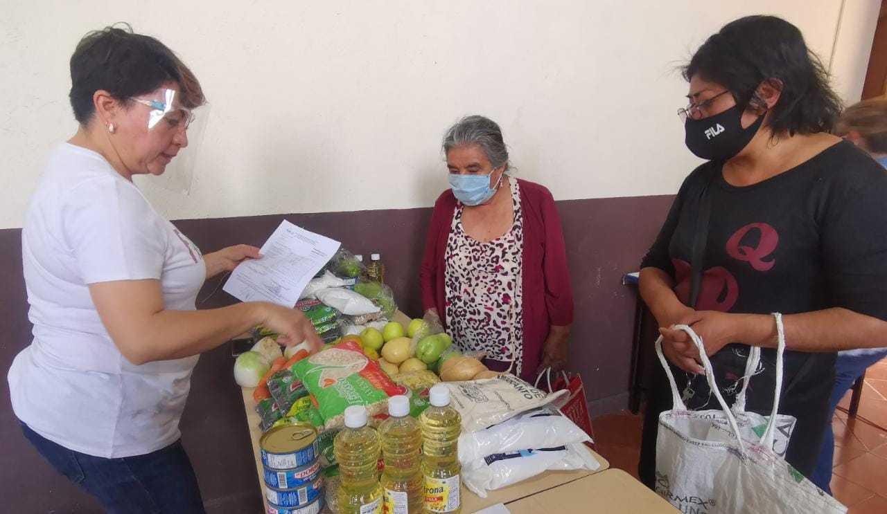 Entrega DIF de Tetla 60 despensas a miembros del Programa de Desayunadores Escolares modalidad Caliente