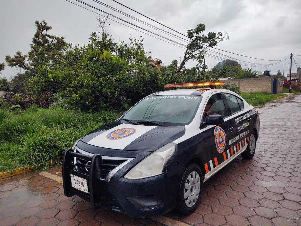 Supervisa Protección Civil localidades de Xicohtzinco por constantes lluvias