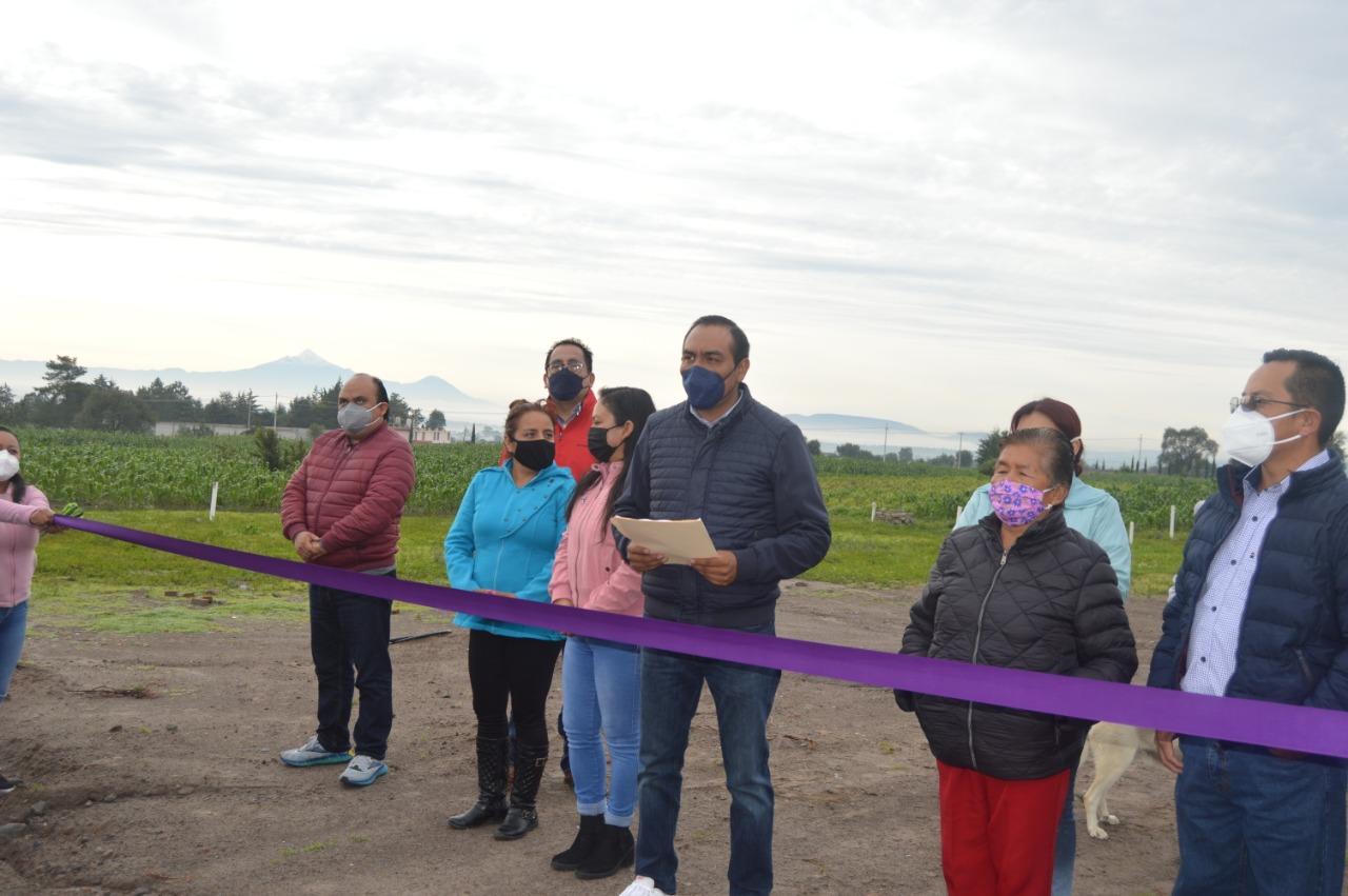 Entrega Yonca, ampliación de red la de agua potable y drenaje sanitario en la 15 Sur