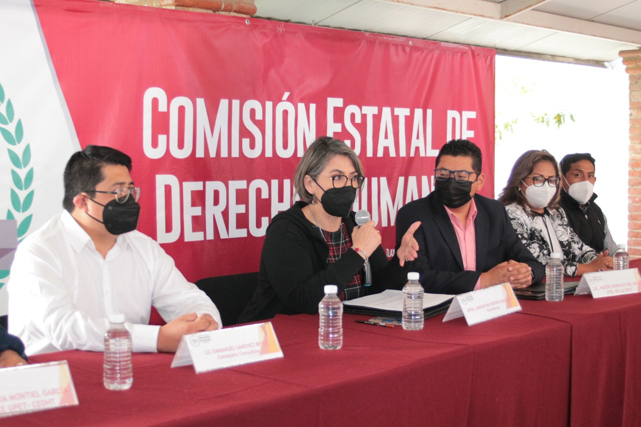 CEDH pacta trabajo colaborativo con la Unión de Periodistas de Tlaxcala